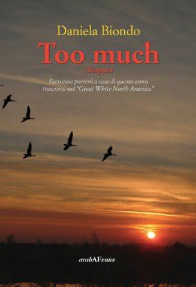 libro too much and not too much daniela biondo araba fenice libro arabafenice it