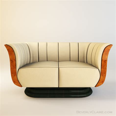 art deco sofa and chairs art deco tulip loveseat chair beverly claire designs