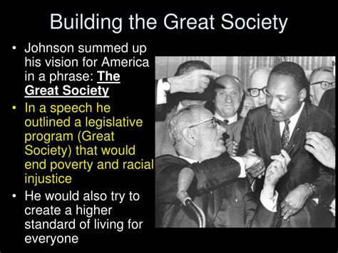 building the great society inside lyndon johnson s white house books ppt lyndon b johnson the great society apush chapter