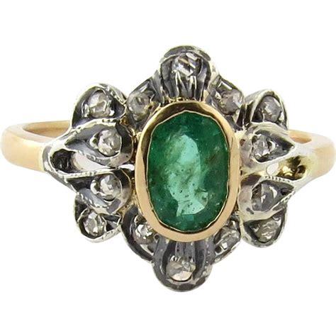 cut genuine emerald 18k yellow gold