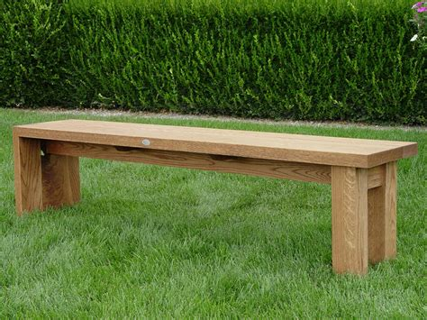 landscape bench oak garden bench dirt simple
