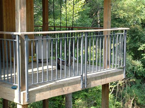 face mount balcony railing aluminum deck railings