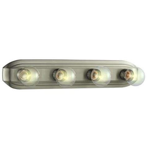 home depot bath bar lighting hton bay 4 light brushed nickel bath bar light hb2051