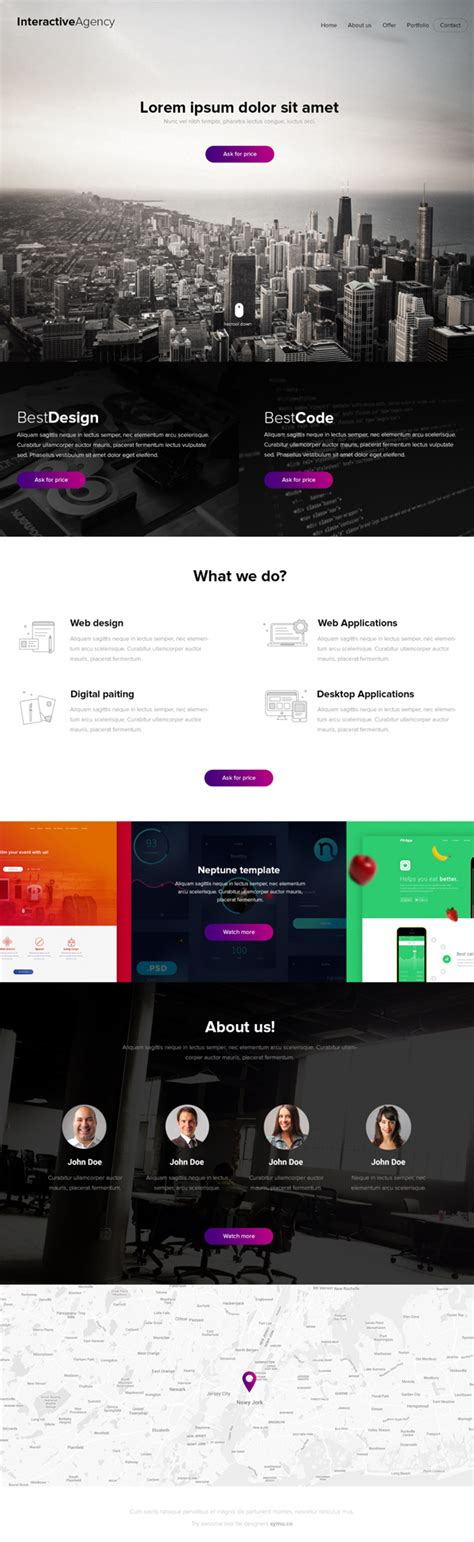 12 New Free Psd Website Templates Freebies Graphic Design Junction Free Interactive Website Templates