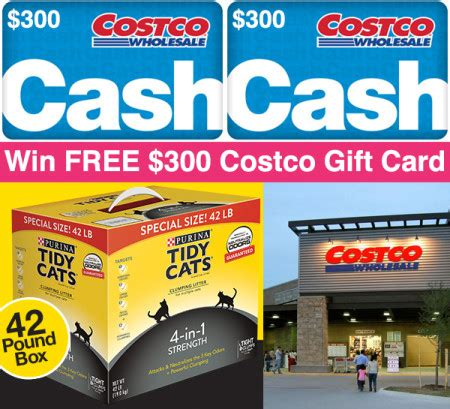 Costco Gift Cards Amazon - win free 300 costco gift card costco tidy cats giveaway