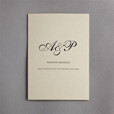 monogram wedding invitation set monogram wedding invitation by twenty seven notonthehighstreet