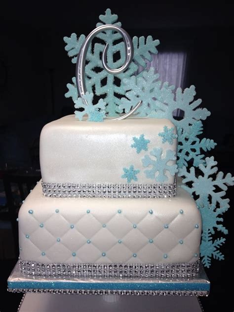 sweet 16 winter decorations best 20 winter cake ideas on