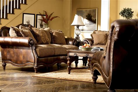 claremore sofa claremore antique living room set from ashley 84303