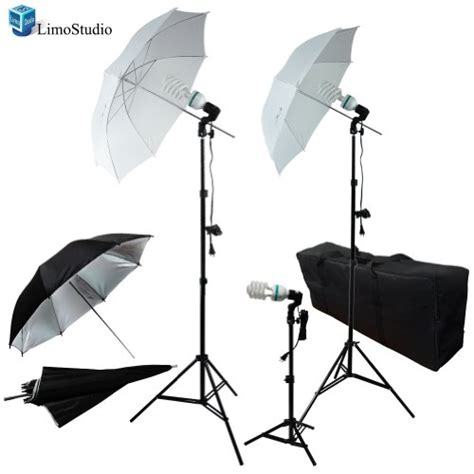 cheap umbrella lighting kit limostudio photography photo portrait studio 600w triple