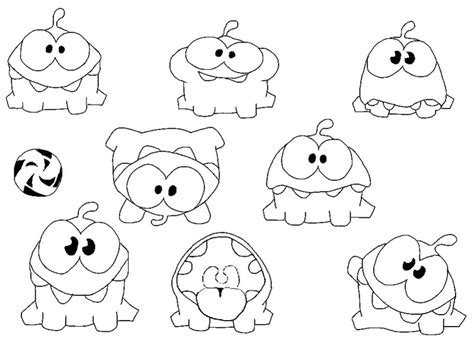 om nom coloring pages printable coloring pages