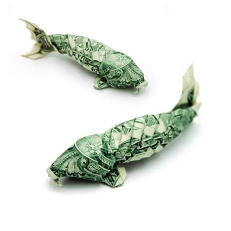 Money Origami Koi - 20 exles of origami paper folding by won park