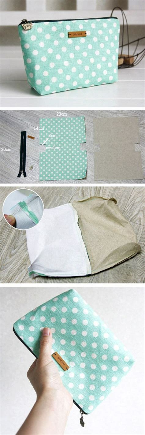 Handmade Pouch Tutorial - 17 best ideas about cosmetic bag on cosmetic