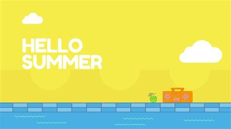canva desktop hello summer graphic desktop wallpaper canva