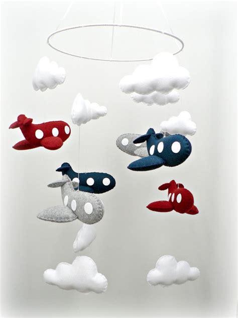 Airplane Nursery Decor Airplane Mobile Baby Mobile Nursery Decor You By Lullabymobiles 257 00 Baby Mobile