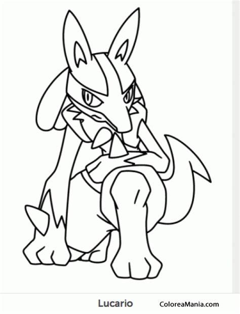 imagenes epicas de lucario colorear lucario 2 pokemon dibujo para colorear gratis