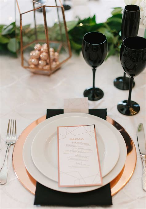 black rose themes rose gold wedding ideas for ceremony reception d 233 cor