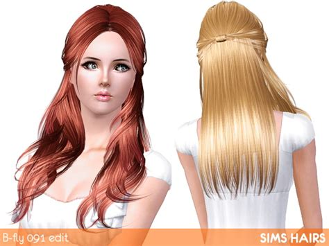 fly sims 121 af hairstyle retextured by sims hairs for sims 3 butterfly s hairstyle af 091 light retextured by sims hairs