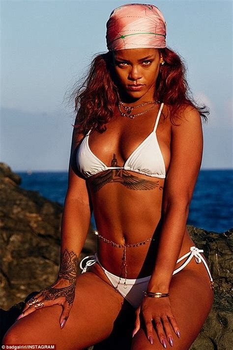 rihanna flaunts bare butt on instagramsee the pic e online rihanna flaunts her bikini body honolulu trip in sultry