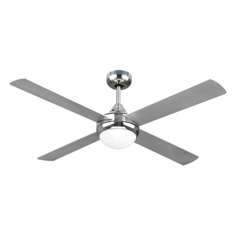 Chrome Ceiling Fan With Light Revolve 48 Inch Ceiling Fan Brushed Chrome With Light 2xe27 Ceiling Fan Bargains