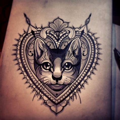 cat tattoo with heart 100 wonderful cat tattoos