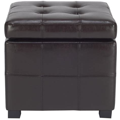 Brown Storage Ottoman Safavieh Kerrie Brown Storage Ottoman Hud8231a The Home Depot
