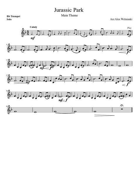 theme song jurassic world jurassic park main theme trumpet music pinterest