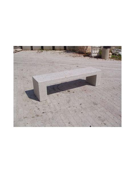 panchina in cemento panchina rettangolare monoblocco in calcestruzzo bianco