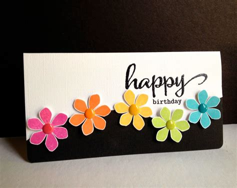 how to make pretty cards handmade card happy flowers happy birthday