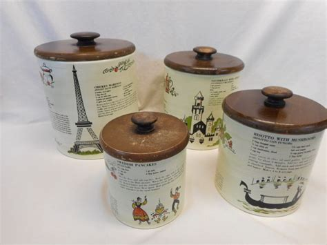 vintage ransburg metal kitchen canisters unique rhinestone design ransburg metal shop collectibles online daily