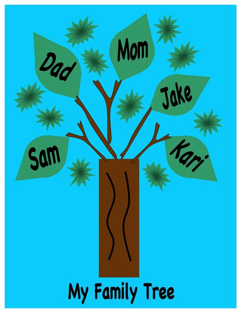 family tree craft project sola sunday school archive activity b1 lesson 3 family