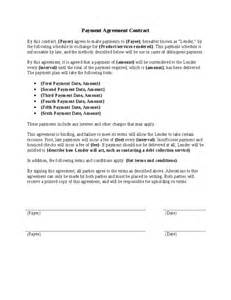 Free Payment Agreement Template 5 payment agreement templates word excel pdf formats