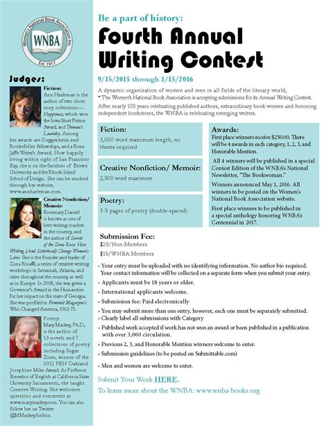 The Write Stuff Essay Contest by Wnba Writing Contest Meet The Judges