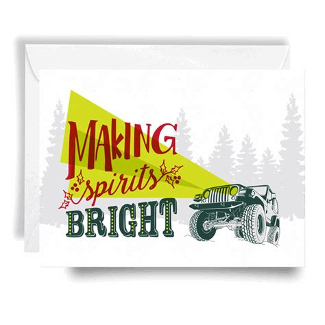 jeep card all things jeep jeep card spirits bright