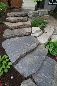 flagstone steps home outdoor living landscaping pinterest
