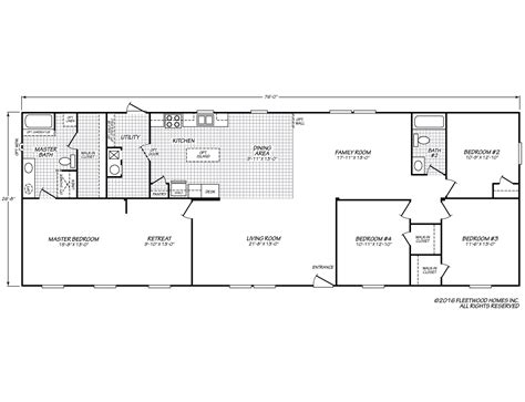 fleetwood mobile home floor plans weston 28764w fleetwood homes