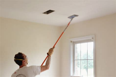 d i y popcorn ceiling removal