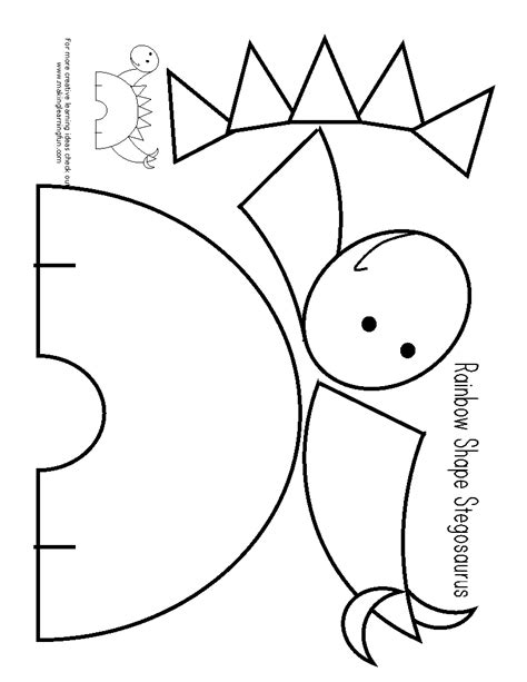 dltk rainbow coloring page dltk coloring pages dinosaurs template printing