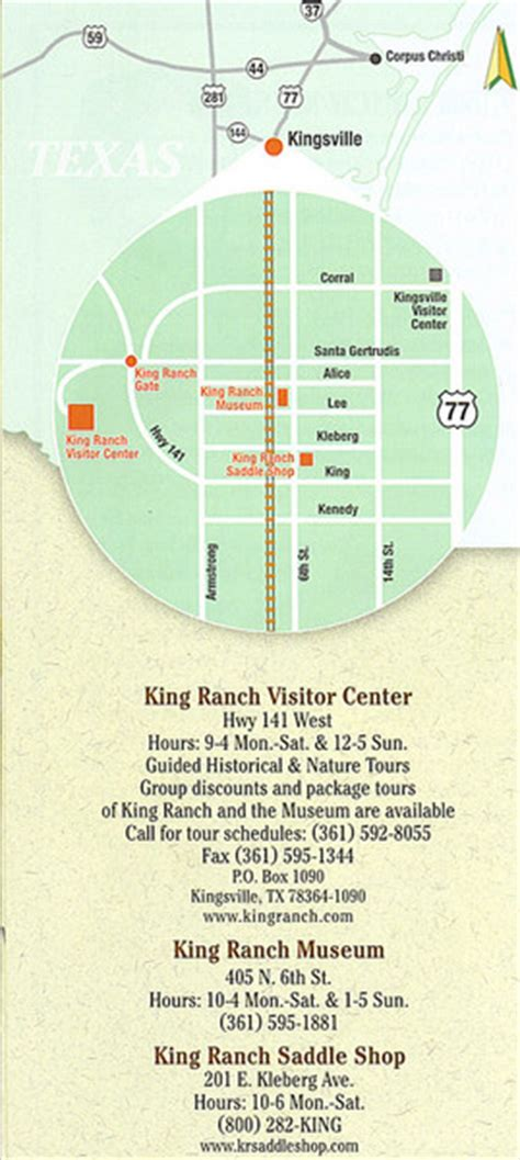 king ranch map texas king ranch map