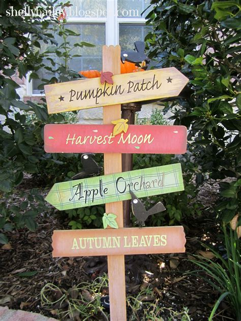 Garden Signs And Decor Shelly Bailey Fall Outdoor Decorations