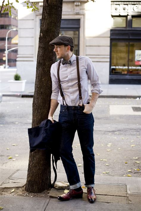 wearing classic denim 1950s blue jeans dandy man ted how to wear braces 20 best men outfits ideas with suspenders