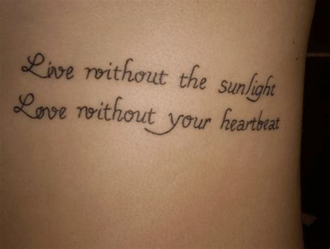 heartbeat tattoo sayings 20 short quotes for tattoos about love for him her