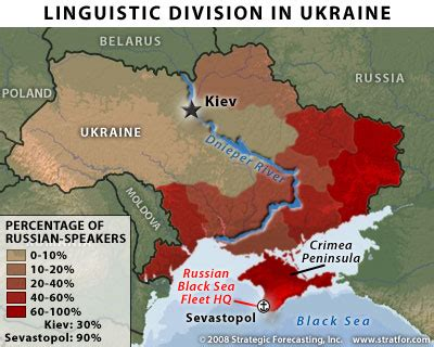 russia linguistic map ukraine ethnic division decentralization and secession