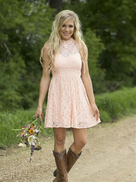 short white dresses on pinterest cowboy boot outfits short bridesmaid dress pink bridesmaid dress high neck
