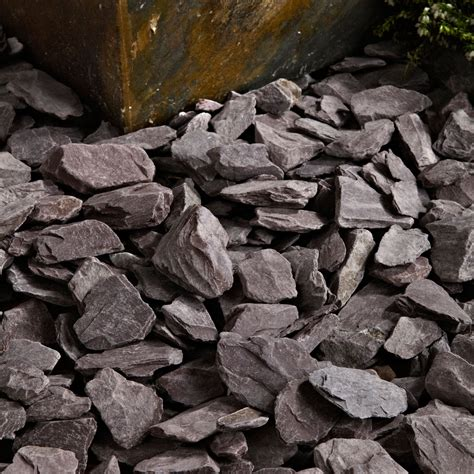 decorative aggregates b q blooma plum decorative slate chippings departments diy
