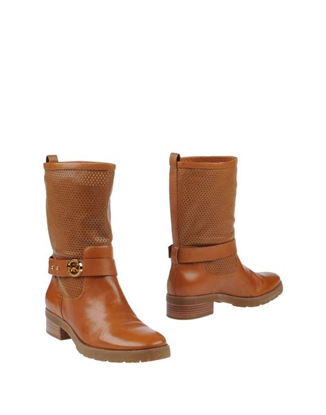 michael kors brown boots michael michael kors ankle boots in brown lyst