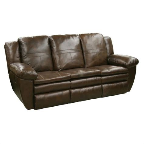 catnapper leather sofa catnapper sonoma leather reclining sofa in sable