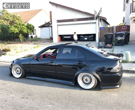 bagged lexus is300 wheel offset 2003 lexus is300 tucked bagged