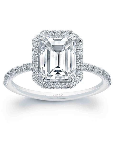 Wedding Rings Emerald Cut by Emerald Cut Engagement Rings Martha Stewart Weddings