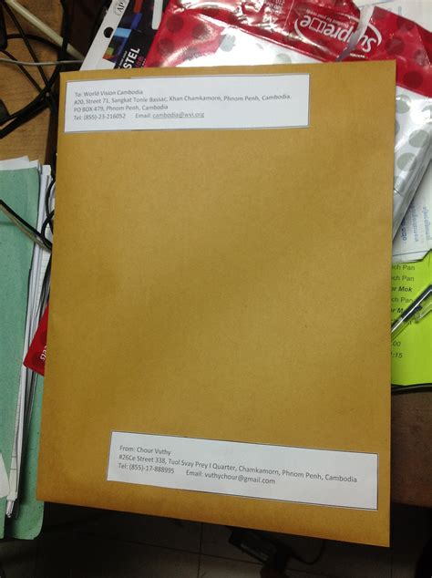 envelope of application letter how to prepare application khmer personnel