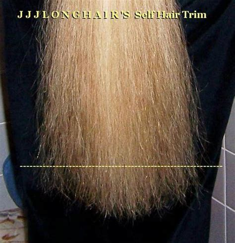 jjj's self hair trim method: self trim straight across